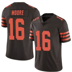 J'Mon Moore Cleveland Browns Men's Limited Color Rush Nike Jersey - Brown