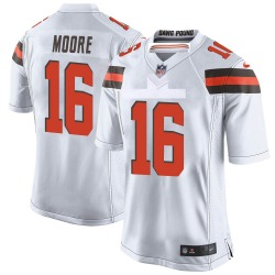 J'Mon Moore Cleveland Browns Youth Game Nike Jersey - White