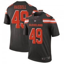 J.T. Hassell Cleveland Browns Men's Legend Nike Jersey - Brown