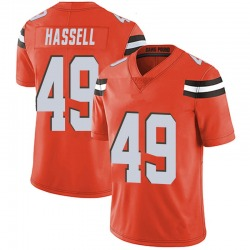J.T. Hassell Cleveland Browns Men's Limited Alternate Vapor Untouchable Nike Jersey - Orange