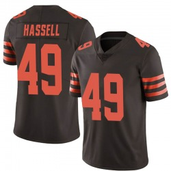 J.T. Hassell Cleveland Browns Men's Limited Color Rush Nike Jersey - Brown