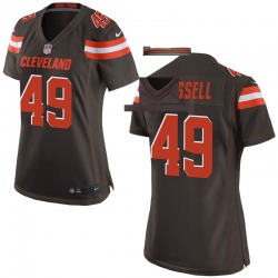 J.T. Hassell Cleveland Browns Women's Game Team Color Nike Jersey - Brown