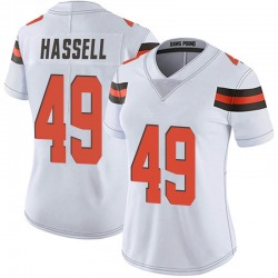 J.T. Hassell Cleveland Browns Women's Limited Vapor Untouchable Nike Jersey - White