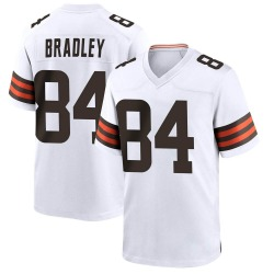 Ja'Marcus Bradley Cleveland Browns Youth Game Nike Jersey - White