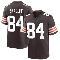 Ja'Marcus Bradley Cleveland Browns Youth Game Team Color Nike Jersey - Brown