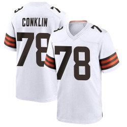 Jack Conklin Cleveland Browns Men's Game Nike Jersey - White