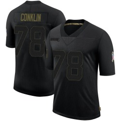 Jack Conklin Cleveland Browns Men's Limited 2020 Salute To Service Nike Jersey - Black
