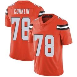 Jack Conklin Cleveland Browns Men's Limited Alternate Vapor Untouchable Nike Jersey - Orange