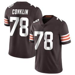 Jack Conklin Cleveland Browns Men's Limited Team Color Vapor Untouchable Nike Jersey - Brown