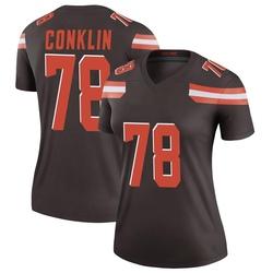 Jack Conklin Cleveland Browns Women's Legend Nike Jersey - Brown