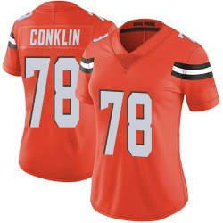 Jack Conklin Cleveland Browns Women's Limited Alternate Vapor Untouchable Nike Jersey - Orange