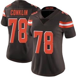Jack Conklin Cleveland Browns Women's Limited Team Color Vapor Untouchable Nike Jersey - Brown