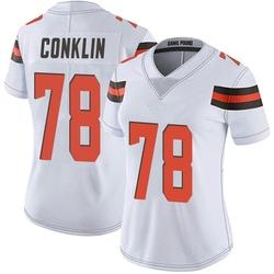 Jack Conklin Cleveland Browns Women's Limited Vapor Untouchable Nike Jersey - White