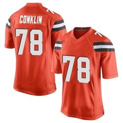 Jack Conklin Cleveland Browns Youth Game Alternate Nike Jersey - Orange