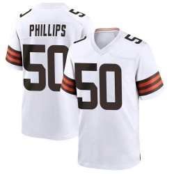 Jacob Phillips Cleveland Browns Men's Game Nike Jersey - White