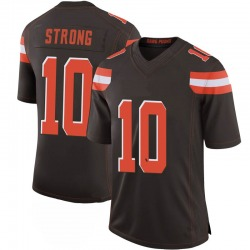 Jaelen Strong Cleveland Browns Men's Limited 100th Vapor Nike Jersey - Brown