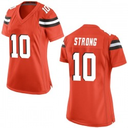 Jaelen Strong Cleveland Browns Women's Game Alternate Nike Jersey - Orange