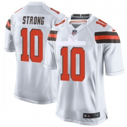 Jaelen Strong Cleveland Browns Youth Game Nike Jersey - White