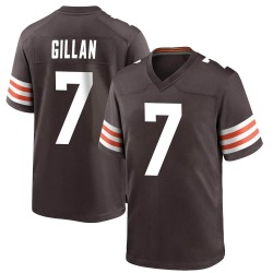 Jamie Gillan Cleveland Browns Men's Game Team Color Nike Jersey - Brown