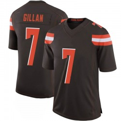 Jamie Gillan Cleveland Browns Men's Limited 100th Vapor Nike Jersey - Brown