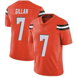 Jamie Gillan Cleveland Browns Men's Limited Alternate Vapor Untouchable Nike Jersey - Orange