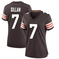 Jamie Gillan Cleveland Browns Women's Game Team Color Nike Jersey - Brown