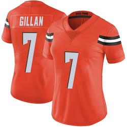 Jamie Gillan Cleveland Browns Women's Limited Alternate Vapor Untouchable Nike Jersey - Orange
