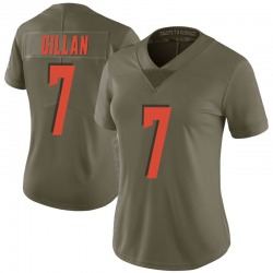 Jamie Gillan Cleveland Browns Women's Limited Salute to Service Nike Jersey - Green