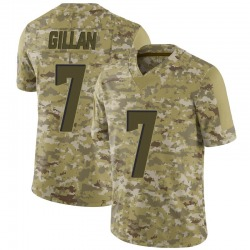Jamie Gillan Cleveland Browns Youth Limited 2018 Salute to Service Nike Jersey - Camo