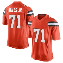 Jedrick Wills Jr. Cleveland Browns Men's Game Alternate Nike Jersey - Orange