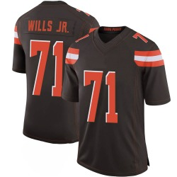Jedrick Wills Jr. Cleveland Browns Men's Limited 100th Vapor Nike Jersey - Brown