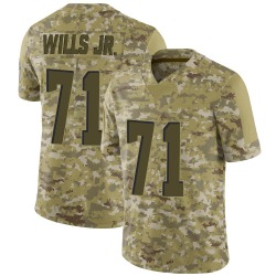 Jedrick Wills Jr. Cleveland Browns Men's Limited 2018 Salute to Service Nike Jersey - Camo