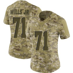Jedrick Wills Jr. Cleveland Browns Women's Limited 2018 Salute to Service Nike Jersey - Camo