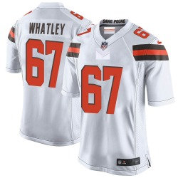 Jeffery Whatley Cleveland Browns Men's Game Nike Jersey - White