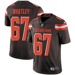 Jeffery Whatley Cleveland Browns Men's Limited Team Color Vapor Untouchable Nike Jersey - Brown