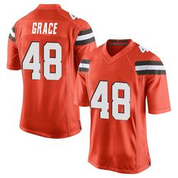 Jermaine Grace Cleveland Browns Men's Game Alternate Nike Jersey - Orange