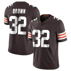 Jim Brown Cleveland Browns Men's Limited Team Color Vapor Untouchable Nike Jersey - Brown