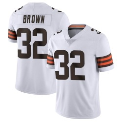 Jim Brown Cleveland Browns Men's Limited Vapor Untouchable Nike Jersey - White