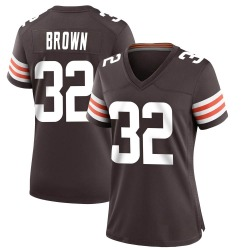 Jim Brown Cleveland Browns Women's Game Team Color Nike Jersey - Brown