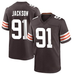Joe Jackson Cleveland Browns Youth Game Team Color Nike Jersey - Brown