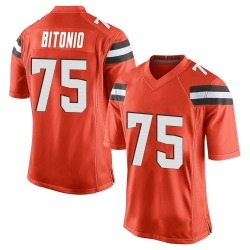 Joel Bitonio Cleveland Browns Men's Game Alternate Nike Jersey - Orange