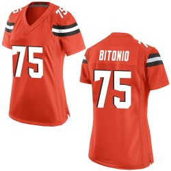 Joel Bitonio Cleveland Browns Women's Game Alternate Nike Jersey - Orange
