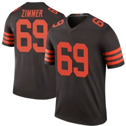 Justin Zimmer Cleveland Browns Men's Color Rush Legend Nike Jersey - Brown