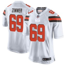 Justin Zimmer Cleveland Browns Men's Game Nike Jersey - White