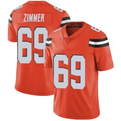 Justin Zimmer Cleveland Browns Men's Limited Alternate Vapor Untouchable Nike Jersey - Orange