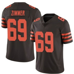 Justin Zimmer Cleveland Browns Men's Limited Color Rush Nike Jersey - Brown