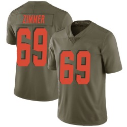 Justin Zimmer Cleveland Browns Men's Limited Salute to Service Nike Jersey - Green
