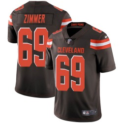 Justin Zimmer Cleveland Browns Men's Limited Team Color Vapor Untouchable Nike Jersey - Brown