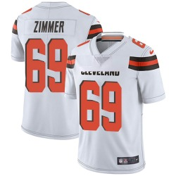 Justin Zimmer Cleveland Browns Men's Limited Vapor Untouchable Nike Jersey - White