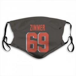 Justin Zimmer Cleveland Browns Reusable & Washable Face Mask